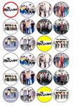 24 x Janoskians Edible Rice Wafer Paper Cupcake Toppers